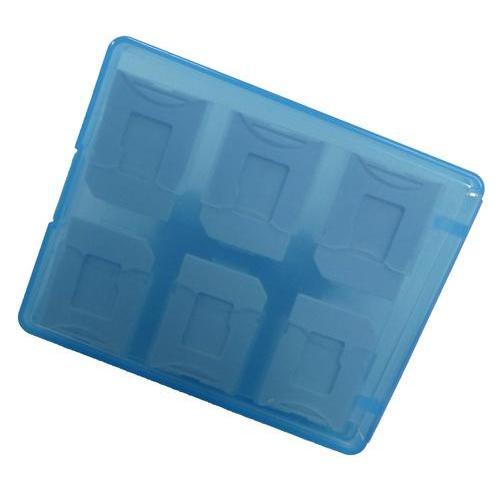 SD/microSD メモリーカード収納ケース 12枚収納用(ブルー)
