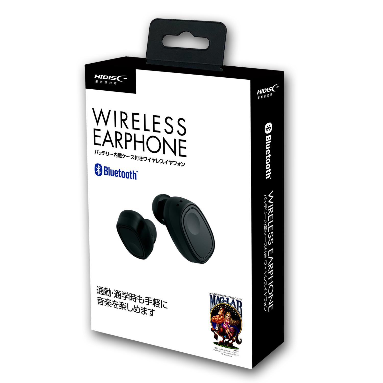 HIDISC バッテリー内蔵ケース付き Bluetoothワイヤレスイヤフォン HDBT33BK
