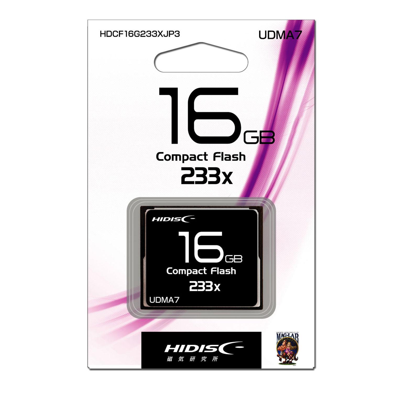 HIDISC CFカード 16GB 233x Read35MB/s MLCチップ搭載